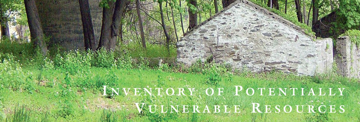 Inventory Of Vulnerable Resources Lower Merion Township Pa
