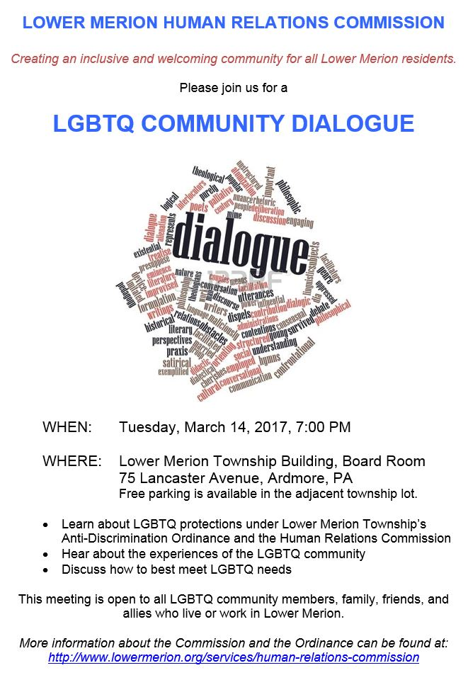 HRC, Community Dialogues, Human Relations Commission, LGBTQ