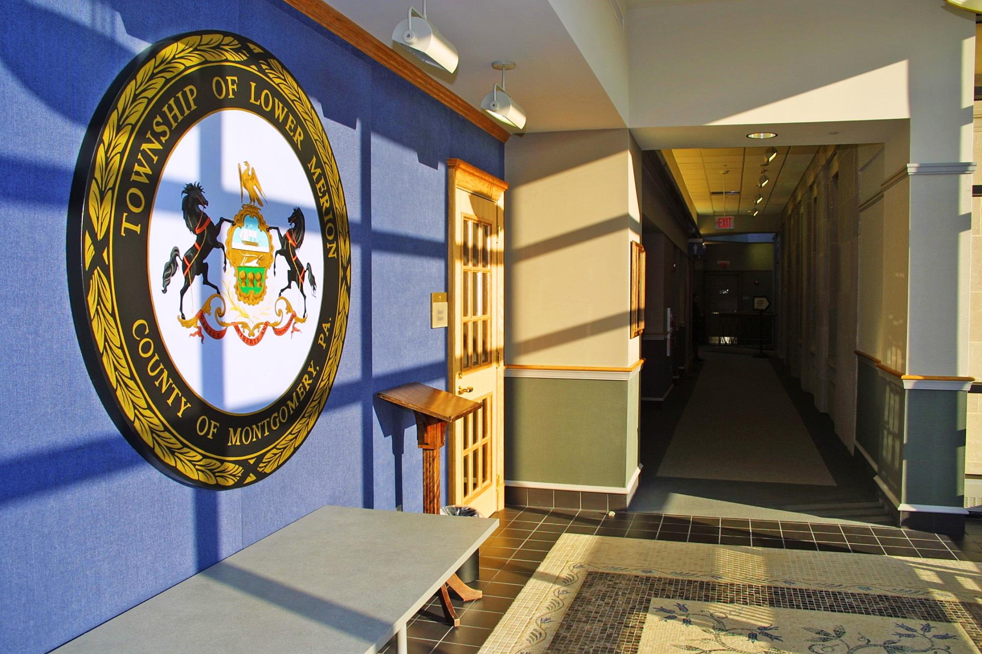Township Seal, Board Room, Lobby