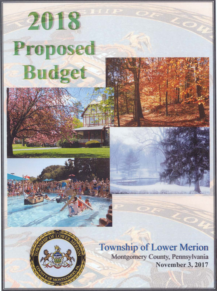 2018 Proposed Budget Cover