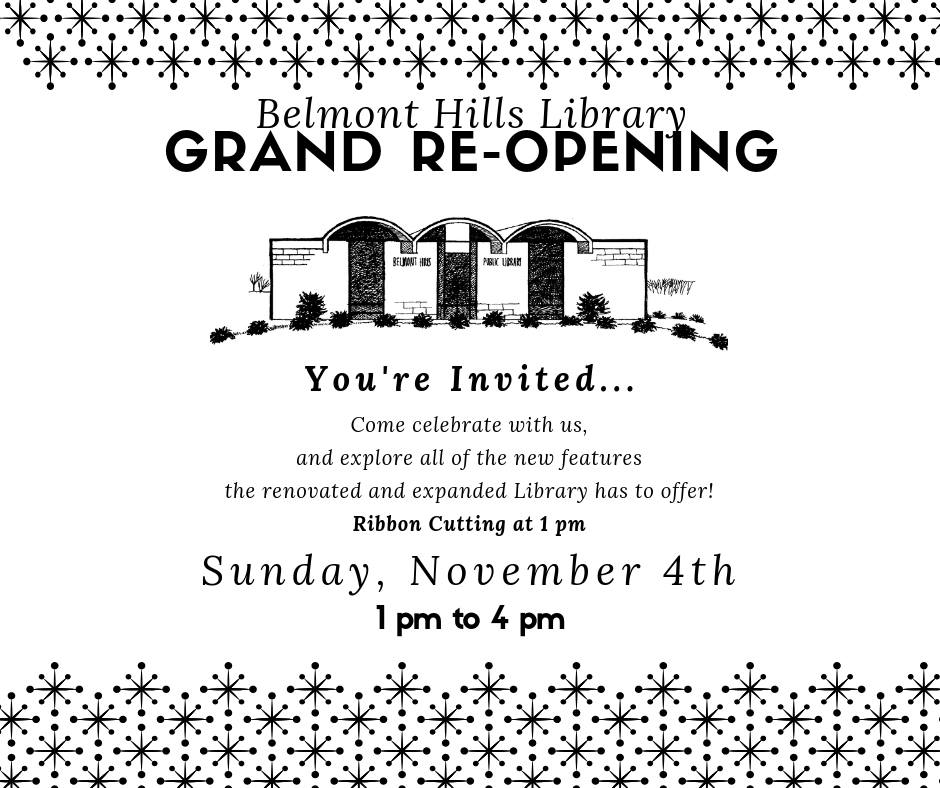 11.04.2018 Belmont Hills Library, LMLS, Grand Re-Opening