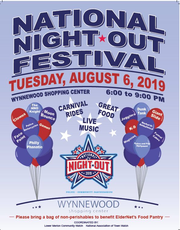 National Night Out Festival Aug 6 2019 Wynnewood Shopping Center