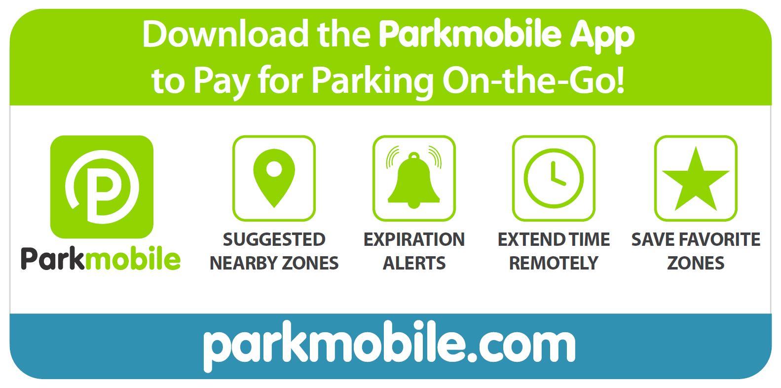 Parkmobile infographic, app